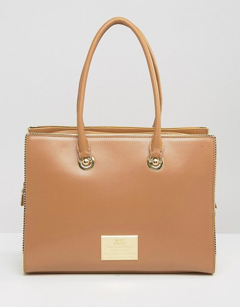 Love Moschino Tote Bag in beige - Cart by Love Moschino, Faux-leather fabric, Branded...