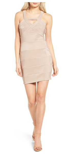 Love, Nickie Lew love in stone - This flirty body-con dress has a strappy neckline and...