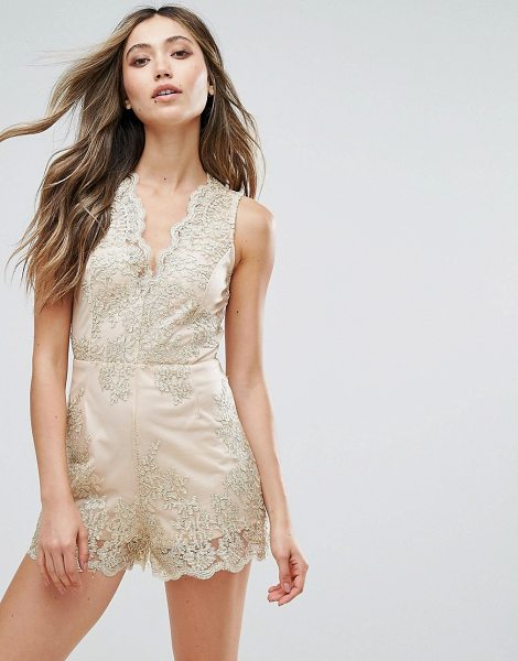 "LOVE & OTHER THINGS Embroidered Romper - """"Romper by Love & Other Things, Partially-lined mesh,..."