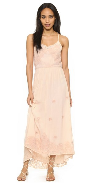 Love Sam Avery dress in ballet slipper - Soft floral embroidery and metallic beads detail this...
