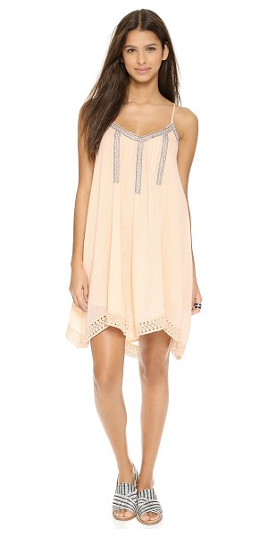 Love Sam Bliss lace trimmed dress in blush - Delicate pintucks and shiny contrast stitching lend...