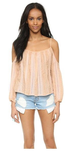 Love Sam Gabrielle cold shoulder top in blush - Embroidered dots detail this swingy Love Sam blouse, and...