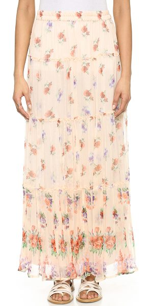 LOVE SAM Lily tiered maxi skirt - Ruffled edges accent the seams of this paneled Love Sam...
