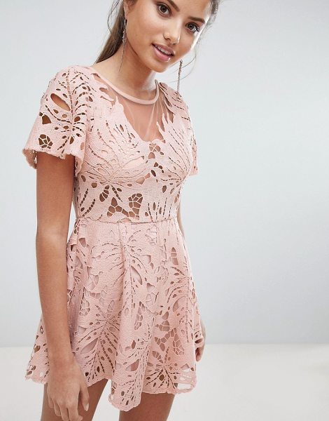 LOVE TRIANGLE Lace Romper - Romper by Love Triangle, Some days call for a little extra,...