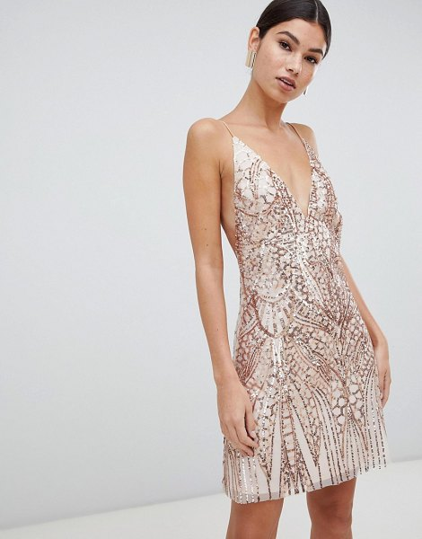 Love Triangle sequin embellished cami dress in rose gold in rosegoldnude - Dress by Love Triangle, Some days call for a little...