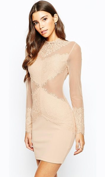 LOVE TRIANGLE Sneak a peek lace dress - Lace dress by Love Triangle Sheer mesh with lace overlay...