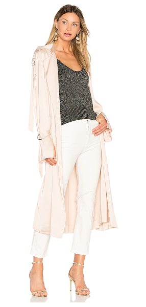 Lover Anise Trench in blush - Draped in dusty appeal, Lover's Anise Trench takes...