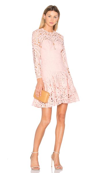 LOVER Harmony Pleat Mini Dress in pink - Main & Lining: 100% poly. Dry clean only. Fully lined....
