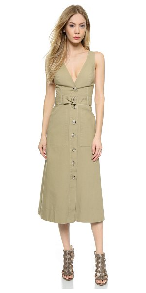 Lover Hunter trench dress in beige - A mid length Lover dress with trench coat inspired...