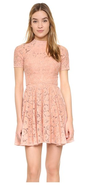 Lover Oasis mini dress in dusty - A flared skirt lends a swingy touch to this romantic...