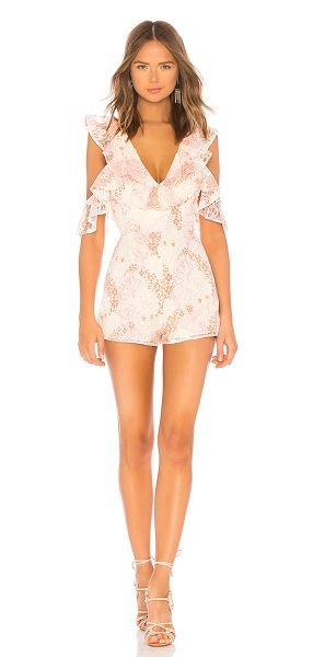 """Lovers + Friends Abella Romper in blush - """"If rooftop views and bubbly cocktails are on the..."""