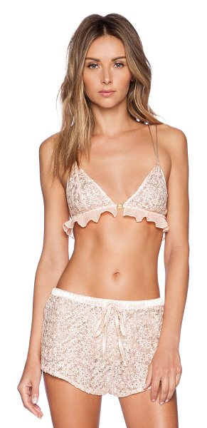 LOVERS + FRIENDS All rise bralette - 100% poly. Hand wash cold. LOVF-WI14. LF15I0062....