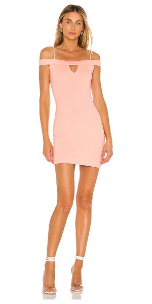 Lovers + Friends arma mini dress in blush pink