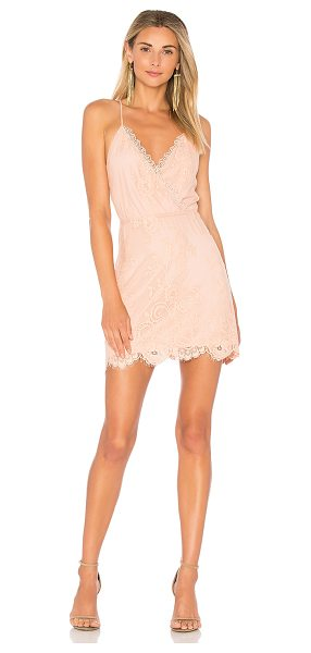 Lovers + Friends Art Deco Dress in blush - Vintage lace solidifies the Lovers + Friends Art Deco...