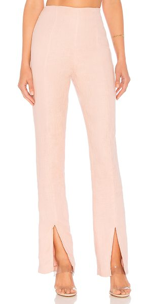 """Lovers + Friends Arya Pant in pink - """"Tailored looks are making a comeback with the Arya Pant..."""