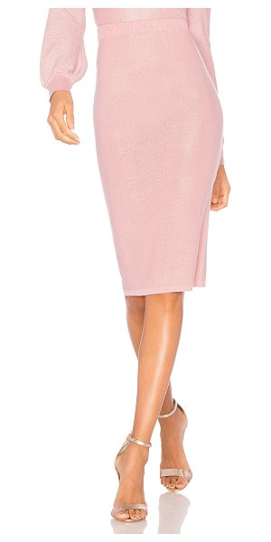 "Lovers + Friends Baldwin Skirt in pink - ""All that glitters is rose. Accentuate your figure with..."