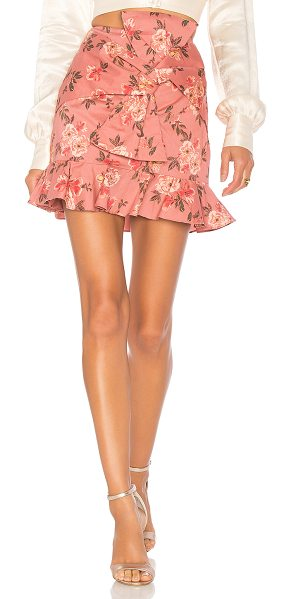 """LOVERS + FRIENDS Barnes Mini Skirt - """"Cotton blend. Hand wash cold. Fully lined. Twisted bow..."""