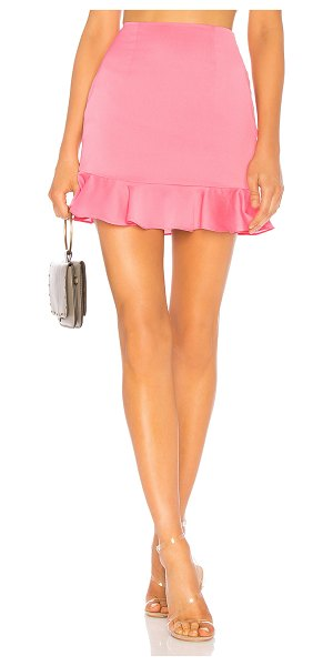 "Lovers + Friends Braxton Skirt in pink - ""Lovers + Friends knows how to flatter your best assets..."
