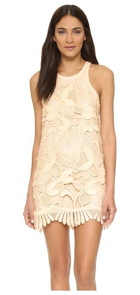 Lovers + Friends caspian shift dress in bone - A blown up floral design lends a striking effect to this...