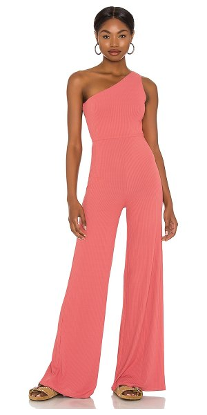 Lovers + Friends charli jumpsuit in dark rose red