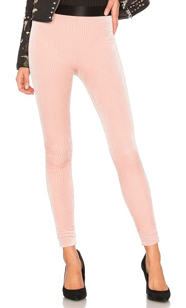 Lovers + Friends Clair Legging in pink - Sumptuous velvet are a sleek foundation to an everyday...