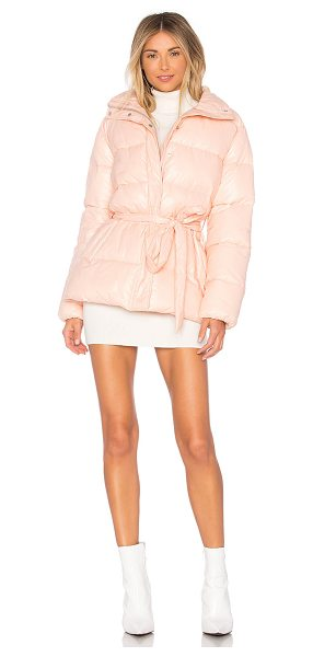 Lovers + Friends Cold Night Puffer in blush - Self: 100% nylonLining & Padding: 100% poly. Hand wash...