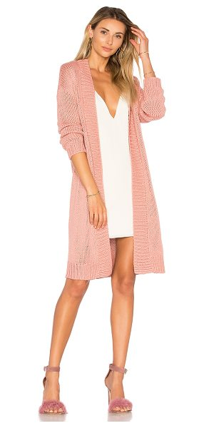 Lovers + Friends Cozy Cardigan in rose - Stay cool, stay cozy. Lovers + Friends' Cozy Cardigan is...