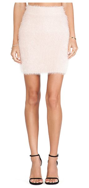 Lovers + Friends Dolly skirt in pink - 64% nylon 36% acrylic. Unlined. Skirt measures approx...