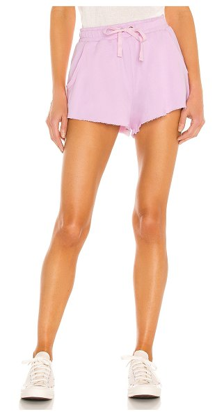 Lovers + Friends everyday terry shorts in ballerina pink