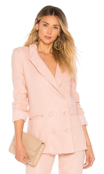 Lovers + Friends fanning blazer in pink