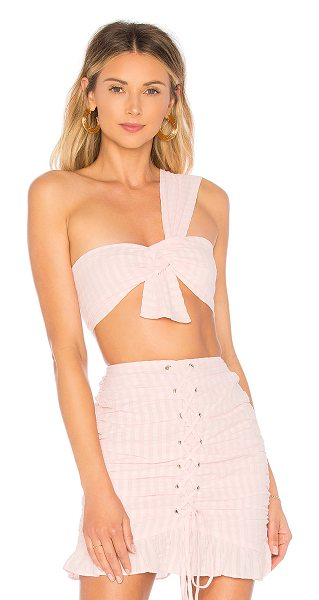 Lovers + Friends Fay Crop in pink - Own the night in a sizzling display of skin with the Fay...