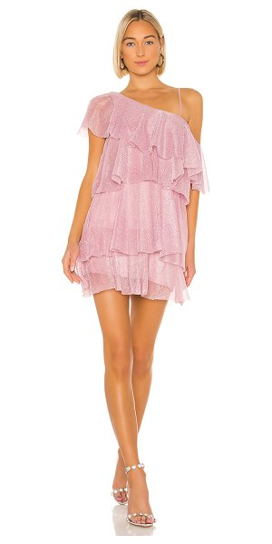Lovers + Friends holiday dress in pink