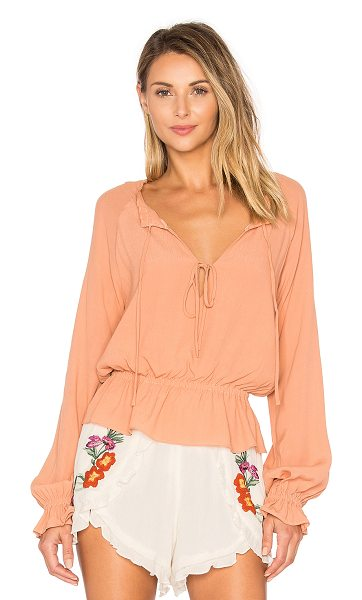 Lovers + Friends Holiday Top in tan - Show off your festive side in the Holiday Top by Lovers...