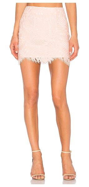 "Lovers + Friends Island Hopper Skirt in peach - ""Peachy keen and fitted with lace, Lovers + Friends'..."