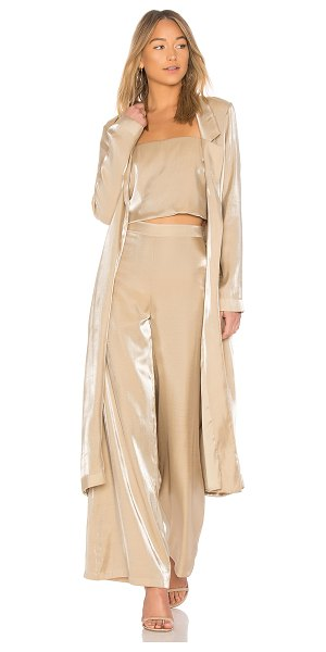 Lovers + Friends Jackson Duster in gold - Self: 67% rayon 33% nylonLining: 97% poly 3% spandex....