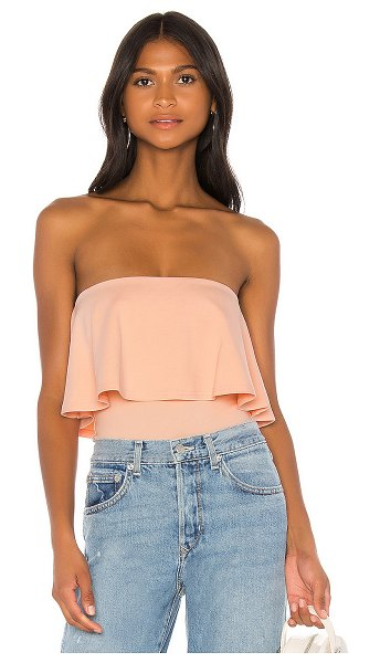 Lovers + Friends jacob bodysuit in blush pink