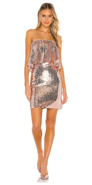 Lovers + Friends knoll mini dress in rose pink