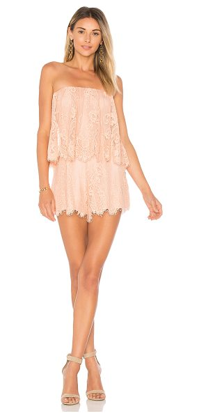 "Lovers + Friends Kristine Romper in peach - ""Summer parties don't need much but the Kristine Romper...."