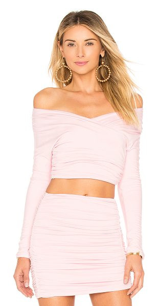 Lovers + Friends Kylie Crop in pink - Don a tasteful display of decolletage in the Lovers +...