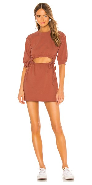 Lovers + Friends langley mini dress in rose tan