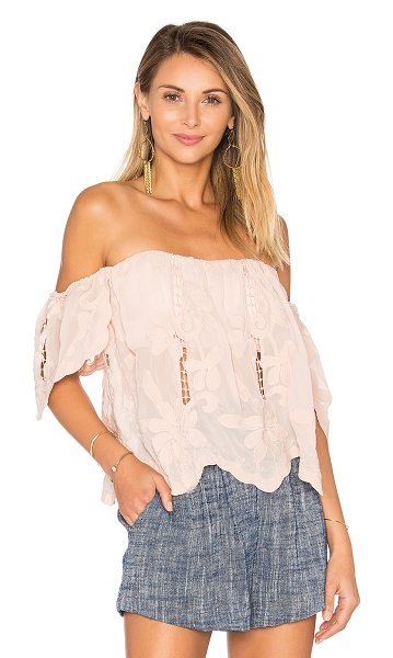 Lovers + Friends Life's A Beach Top in blush - Breeze through the day with an effortless charm in the...
