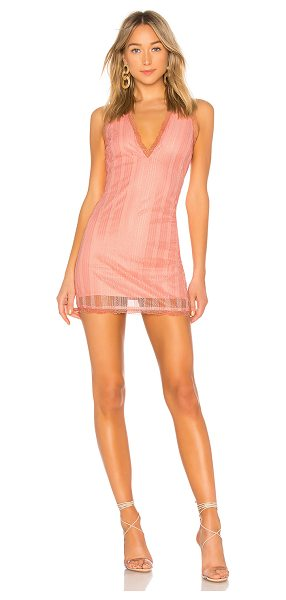 Lovers + Friends may may mini dress in pink