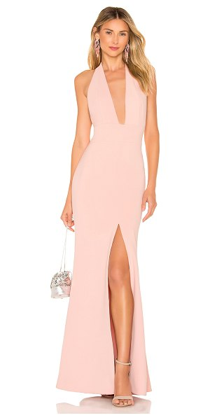 Lovers + Friends mora gown in light pink
