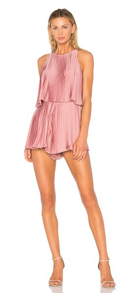 "Lovers + Friends Nicki Romper in pink - ""Remain confidently chic in the Nicki Romper by Lovers +..."
