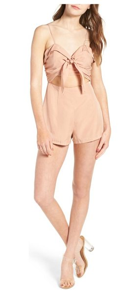 Lovers + Friends on the go romper in dusty pink - A pretty bow and neatly folded details are flirty in all...