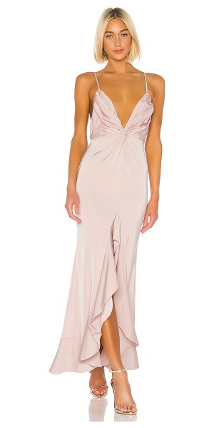 Lovers + Friends patricia gown in light pink