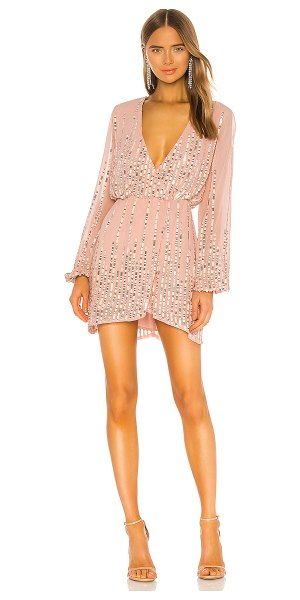 Lovers + Friends poppy mini dress in blush