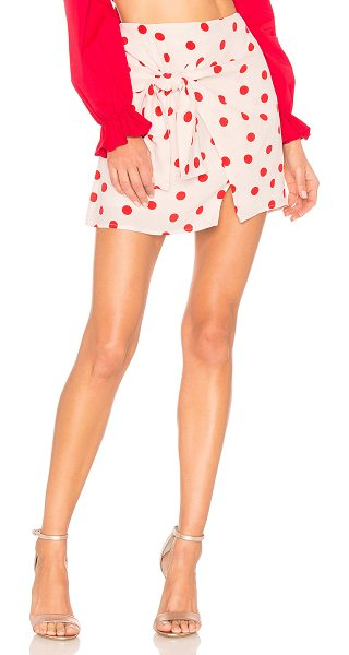 "Lovers + Friends Quinn Skirt in blush - ""Polka dots, the only print you need this season. Cut in..."
