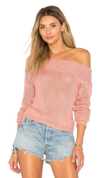 LOVERS + FRIENDS Sandy Beach Crop Sweater in shell - Even beach days call for a cozy cover up. Enter Lovers +...