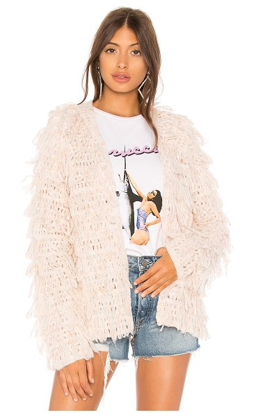 Lovers + Friends Shaggy Sweater in rose - With its baby pink fabrication and allover shagginess,...